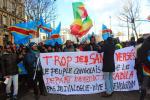 Une marche d'indignation à Paris de la diaspora congolaise contre le génocide au Congo, jeudi 29 janvier 2016.