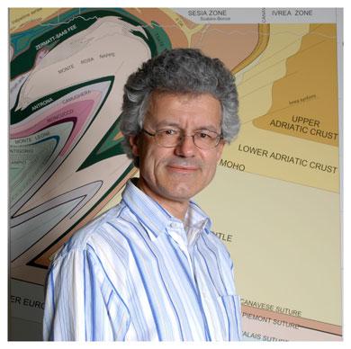 François Bussy. Professeur de géologie à l'UNIL et chercheur à l'Institut de minéralogie et de géochimie. © Nicole Chuard