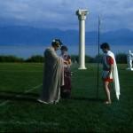 Dorigny. Jeux olympiques antiques en 1987. Offrandes. © DR