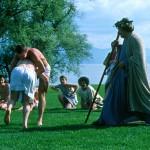 Dorigny. Jeux olympiques antiques en 1987. Lutte. © DR