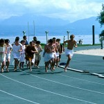 Dorigny. Jeux olympiques antiques en 1987. Course des hommes. © DR