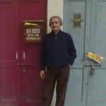 Le professeur et historien de l'art Jyotindra Jain, à Delhi. Photo Francis Mobio.