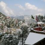 La vue depuis le «Ridge», à Shimla. Photo Francis Mobio.