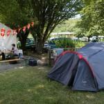 Mandeure (F). Les étudiants logent au camping pendant les six semaines que dure le chantier. Photo Alban Kakulya