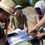 Mandeure (F). Fouilles archéologiques réalisées par des étudiants de l'Université de Lausanne et de Besançon. Photo Alban Kakulya