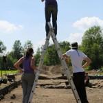 Mandeure (F). Les fouilles archéologiques sont documentées photographiquement. Photo Alban Kakulya