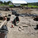 Mandeure (F). Vue générale des fouilles archéologiques. Photo Alban Kakulya
