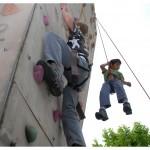 Mystères de l'UNIL. Le mur de grimpe. Photo Nicole Chuard © UNIL