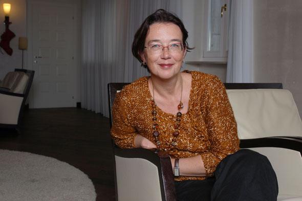 Christine Le Quellec Cottier. La chercheuse nous emmène sur les traces lausannoises de l'écrivain franco-suisse. © Nicole Chuard