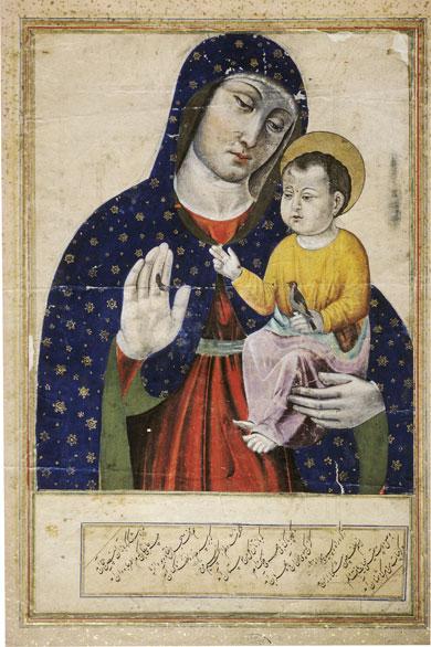 « Maryam ». Cette miniature du XVIIe siècle, conservée à Istanbul, est inspirée d'un modèle occidental. © R. et S. Michaud / akg-images