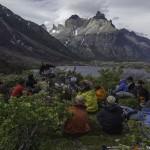 Robert Bodner, doctorant UNIL, devant Los Torres del Paine. © Fabrice Ducrest