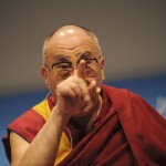 Le Dalaï Lama. © David Prêtre / Strates