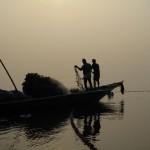 Pêcheurs sur le Chilika Lake. © Oskar Hnatek