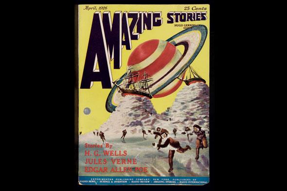 Amazing stories vol. 1 (1926). © coll. Maison d'Ailleurs / Agence Martienne