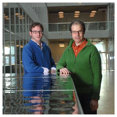 Christophe Hauert et Jean- Christophe Graz. Chargé de projet au comité d'Internorm. Responsable du projet. Nicole Chuard © UNIL