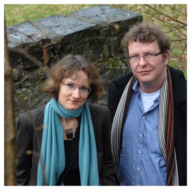 Agnieszka Soltysik Monnet et Alain Boillat. Professeure à la Section d'anglais et professeur à la Section d'histoire et esthétique du cinéma. Nicole Chuard © UNIL