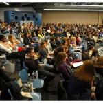 Soirée de formation des tandems dans l'auditoire 1031, le 6 mars 2013. Nicole Chuard © UNIL