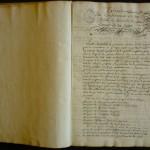 Ce document est l'un des procès-verbaux de la «Société du comte de la Lippe». Entre 1742 et 1747, un groupe de personnalités lausannoises a œuvré à l'éducation d'un jeune comte allemand, Simon Auguste de la Lippe-Detmold. Il s'agissait de le former à son futur métier de dirigeant, à l'enseigne des idées républicaines et réformistes. Photo Séverine Huguenin. Document conservé à la Bibliothèque cantonale et universitaire de Lausanne.