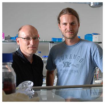 Nicolas Salamin et Glenn Litsios. Professeur assistant et doctorant au Département d'écologie et évolution (DEE) à l'UNIL. Nicole Chuard © UNIL