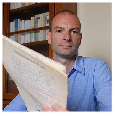 Stéphane Pétermann. Responsable de recherche au Centre de recherches sur les lettres romandes. Nicole Chuard © UNIL