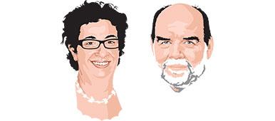 Catherine El-Bez et Jacques Lanarès. Ingénieure pédagogique et vice-recteur de l'UNIL