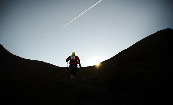 Tor des Géants. Un participant à la course d'endurance la plus exigeante du monde, dans le Val D'Aoste. © Tor des Géants, photo 2013 Raffaella Santamaria
