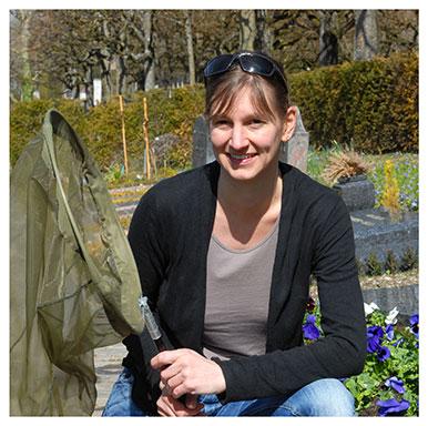 Aline Pasche. Scientifique du patrimoine naturel à la Direction générale de l'environnement, dans la division biodiversité et paysage (canton de Vaud). Nicole Chuard © UNIL