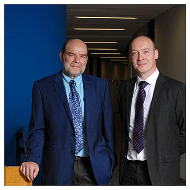 Jacques Lanarès et Emmanuel Sylvestre. Vice-recteur de l'UNIL et Directeur du Centre de soutien à l'enseignement. Nicole Chuard © UNIL