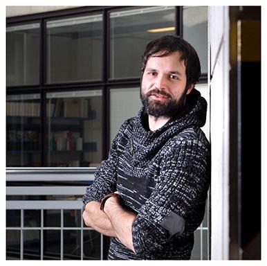 Roberto Biolzi. Cet assistant diplômé écrit actuellement une thèse sur la guerre dans les Etats savoyards à la fin du Moyen Age. Nicole Chuard © UNIL