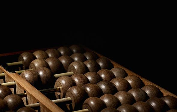 Boulier. Cet outil de calcul est encore utilisé de nos jours. © Thinkstock