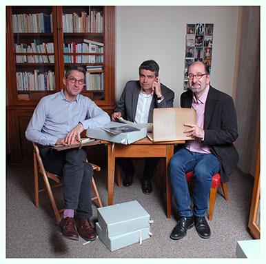 Daniel Maggetti, Antonio Rodriguez et Philippe Kaenel Professeurs à la Faculté des Lettres de l'UNIL. Nicole Chuard © UNIL