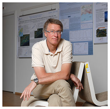 Torsten Vennemann Professeur à l'Institut des dynamiques de la surface terrestre. Nicole Chuard © UNIL