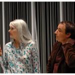 Valérie Liengme (Véra) et François Florey (Ferdinand Vanek). Théâtre La Grange de Dorigny, le 20 février 2015. Répétition de Vernissage de Vaclav Havel. Photo Nicole Chuard © UNIL
