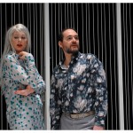 Valérie Liengme (Véra) et Yves Jenny (Michael). Théâtre La Grange de Dorigny, le 20 février 2015. Répétition de Vernissage de Vaclav Havel. Photo Nicole Chuard © UNIL