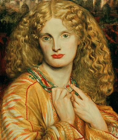 Hélène de Troie. Œuvre de Dante Gabriel Rossetti (1863), conservée à la Kunsthalle de Hambourg. © AKG-images
