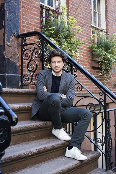 Samuel Grandchamp Bachelor à la Faculté des hautes études commerciales (2012). Photographié à New York où il vit actuellement. © Aline Paley