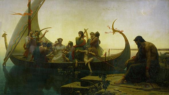 «LE SOIR» Datée de 1843, cette huile sur toile de Charles Gleyre a connu un grand succès. Paris, Musée du Louvre. © akg-images / Erich Lessing