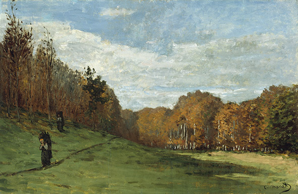 «PORTEURS DE BOIS EN FORÊT DE FONTAINEBLEAU» Huile de Claude Monet, 1863. Henry H. and Zoe Oliver Sherman Fund. Photograph © Museum of Fine Arts, Boston