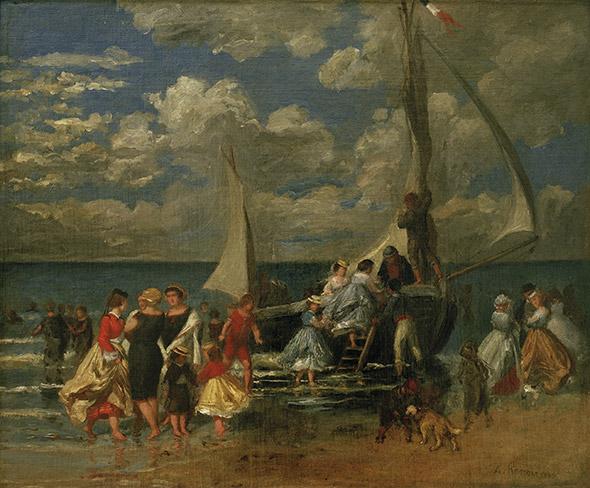 «RÉUNION AUTOUR D'UN BATEAU» Huile sur toile d'Auguste Renoir,1862. Montréal, Maxwell Cummings. © akg-images