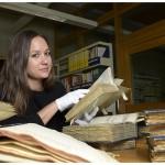 Chargée de recherches à l'Institut religions, culture et modernité, Elisabeth Holm travaille sur les écrits d'Alexandre César Chavannes (1731-1800). Photo Nicole Chuard © UNIL
