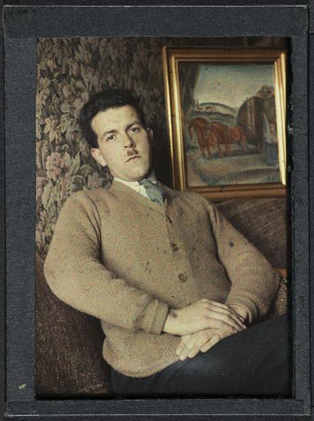 Autoportrait avec Le char de foin de René Auberjonois. © Bibliothèque cantonale et universitaire Lausanne