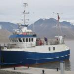 Le Viking Explorer, un bateau utilisé pour la recherche au Spitzberg. Photo © Antonio Abellan / Risk Analysis Group