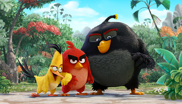 Angry Birds. Chuck, Red et Bomb dans l'adaptation du jeu Angry Birds. © Rovio Animation