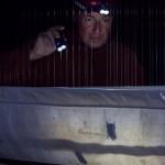 Philippe Christe étudie les chauves-souris dans les grottes de Baulmes depuis 15 ans. Photo F. Ducrest © UNIL