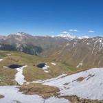 Vue sur l'alpage de la Niva, au-dessus d'Evolène. Situé dans le val d'Hérens, il constitue, avec les régions des barrages de Mauvoisin (val de Bagnes) et de la Grande Dixence (val des Dix), l'un des terrains de recherches privilégiés d'Adrien Pantet. Photo F. Ducrest © UNIL