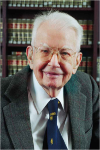 Ronald Coase (1910 - ) - Columbia University, licence CC-BY-SA