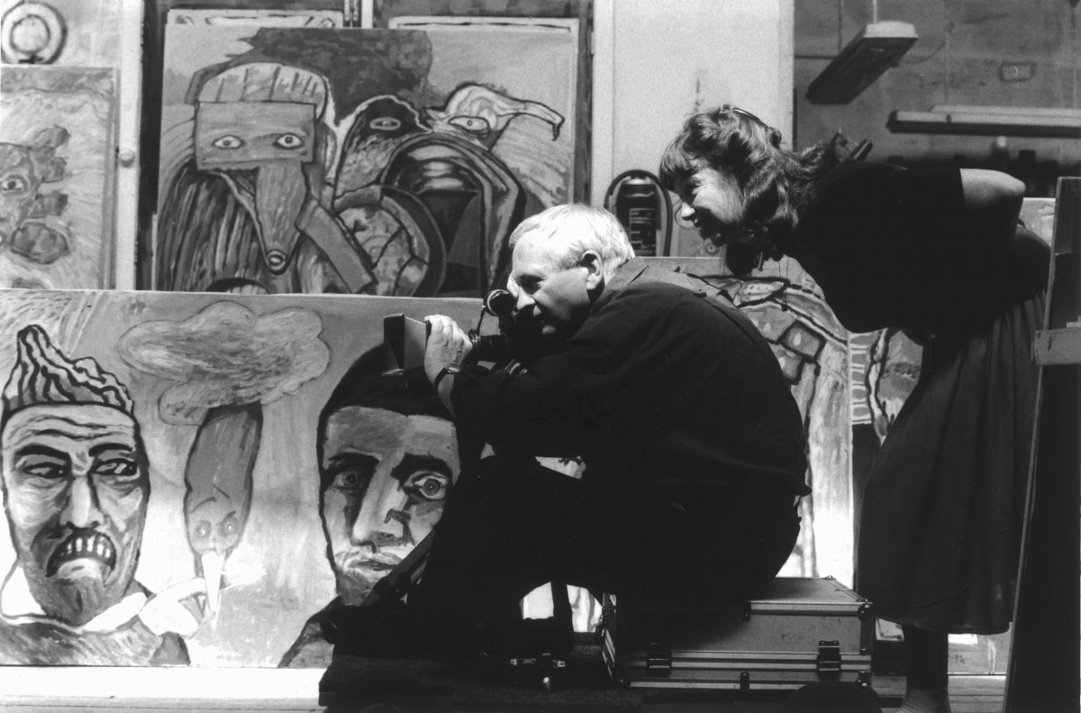 photographie de tournage de Lucebert, tijd en afscheid (Lucebert, temps et adieux), Johan van der Keuken, 1962-1994.