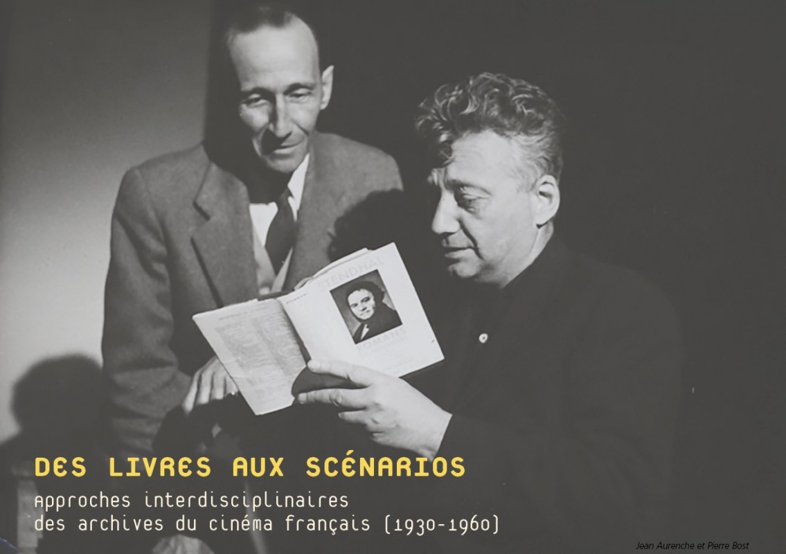 Image : Jean Aurenche et Pierre Bost. Lien : colloque « Des livres aux scénarios. Approches interdisciplinaires des archives du cinéma français (1930-1960) ».