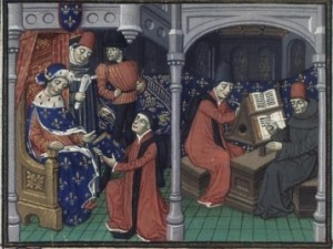 © Bibliothèque nationale de France, Laurent de Premierfait, Decameron, ms BnF fr. 129, folio 4.