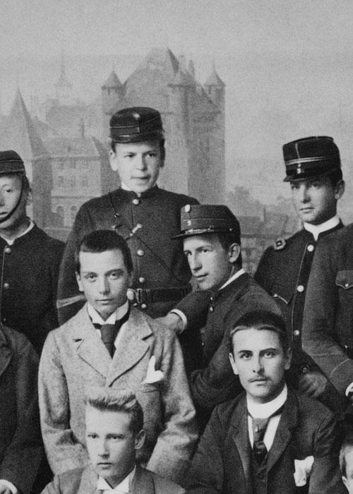 Ramuz en uniforme de collégien